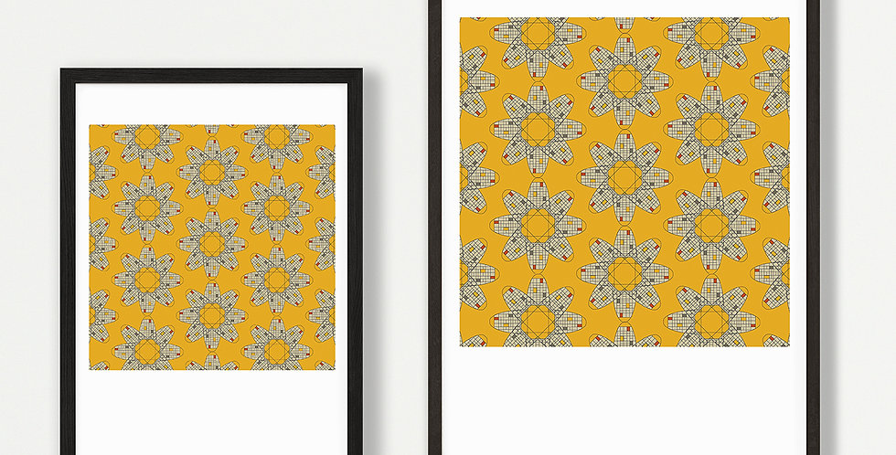 Toast Yellow Print Unframed