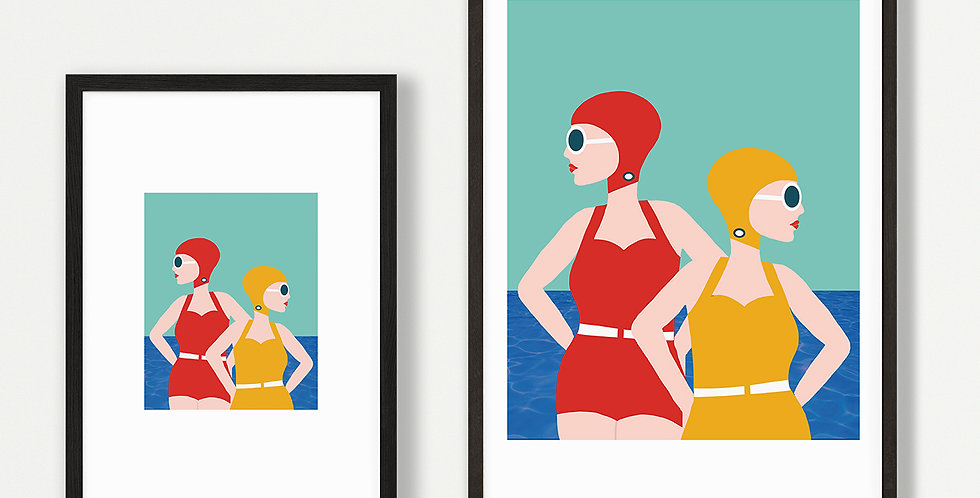 Lido Style Print Unframed