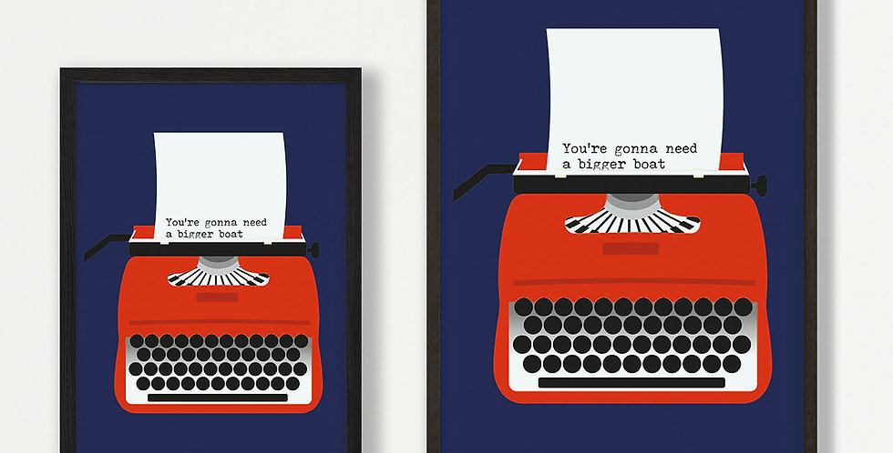 Red Typewriter unframed print