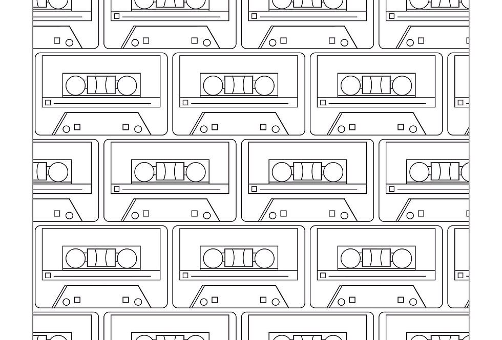 Mixtape Colouring Sheet