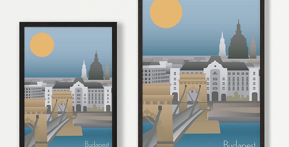 Budapest unframed print