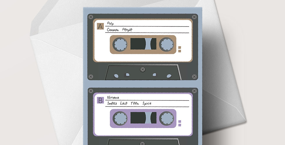 1990s Cassette A5 greeting card