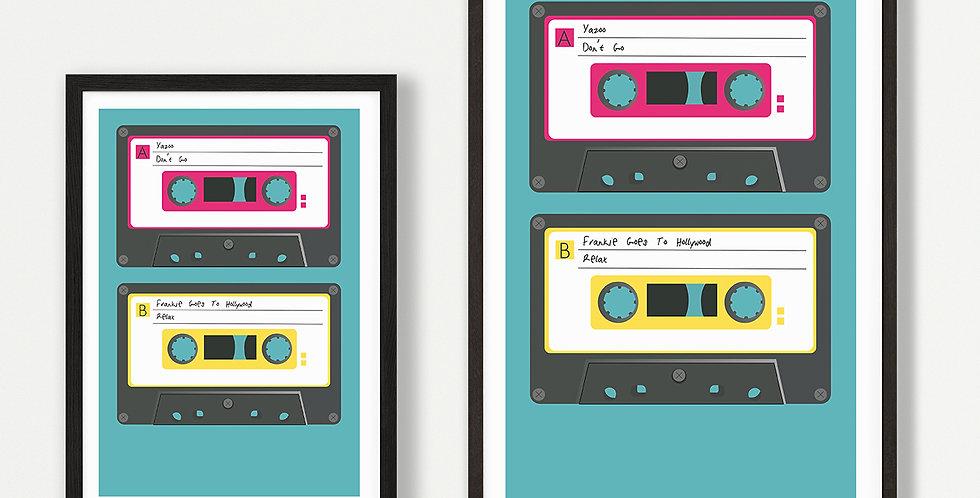 1980s Cassette unframed print
