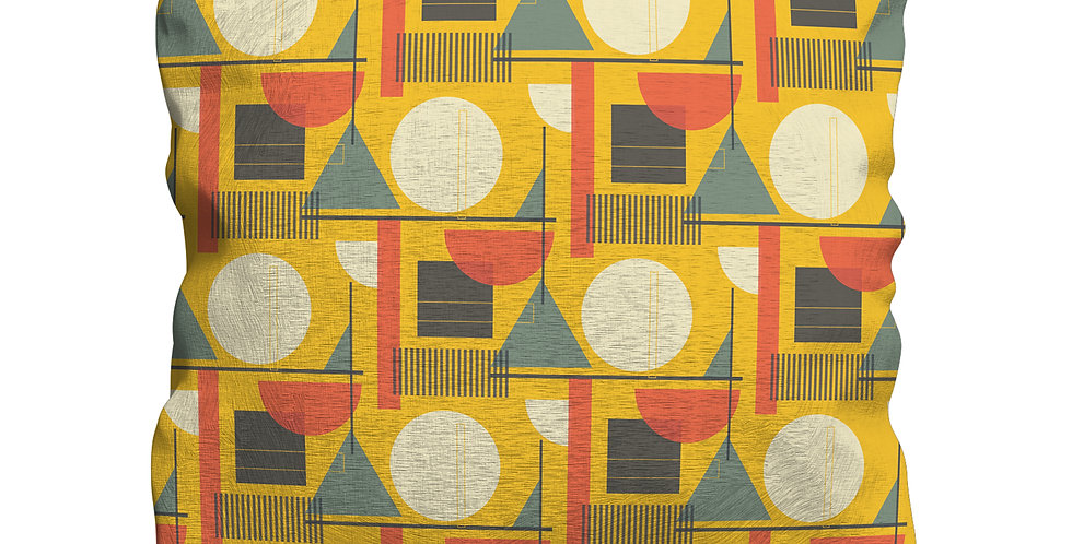 Kandinsky Yellow cushion