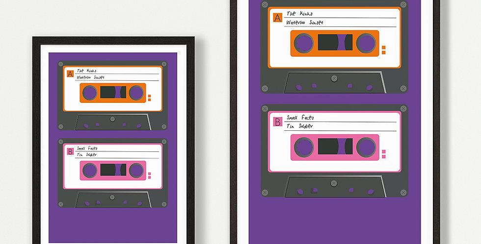 1960s Cassette unframed print