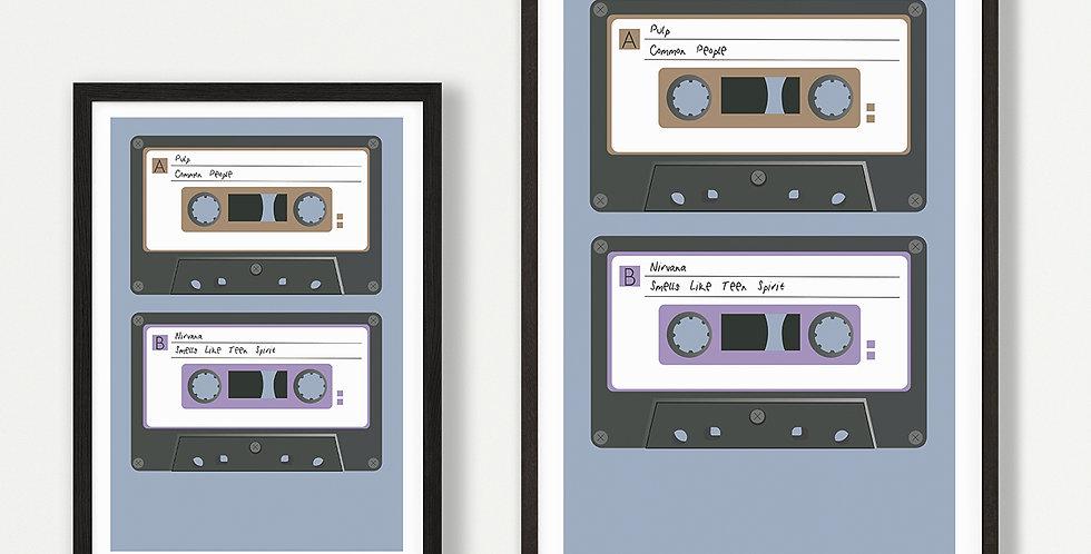 1990s Cassette unframed print