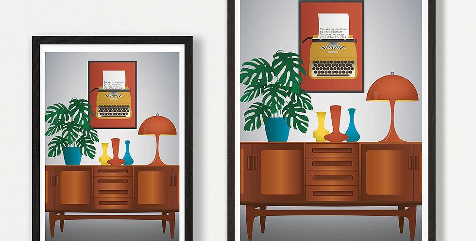 Fresco unframed print
