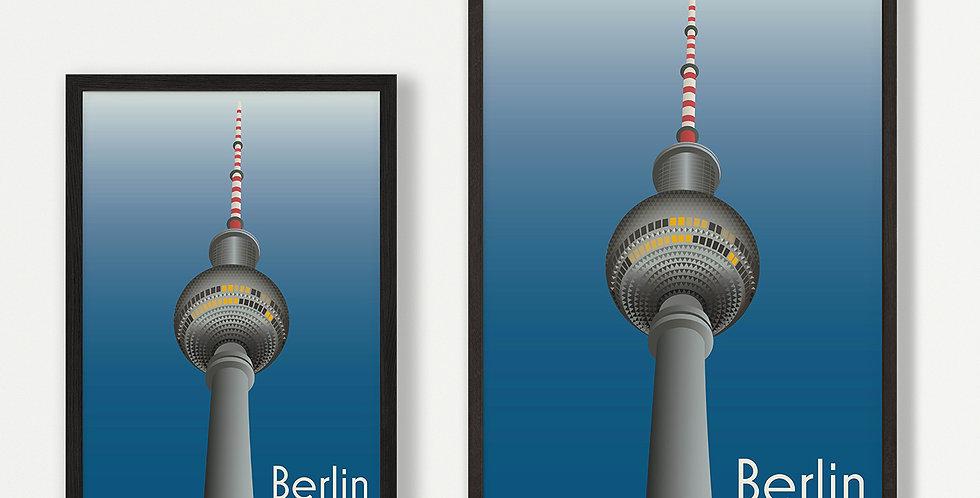 Berlin unframed print