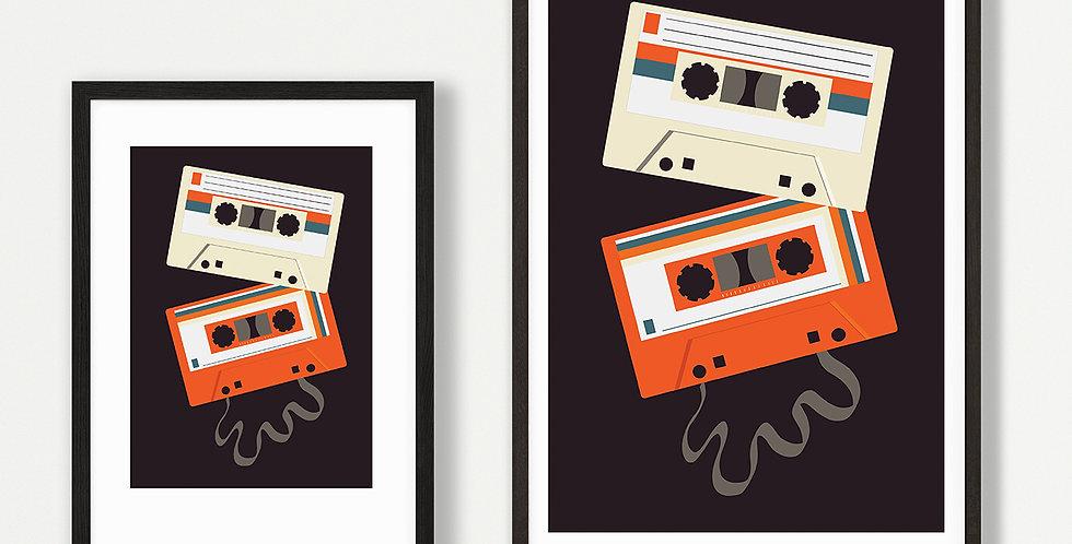 Mixtape Dark unframed print
