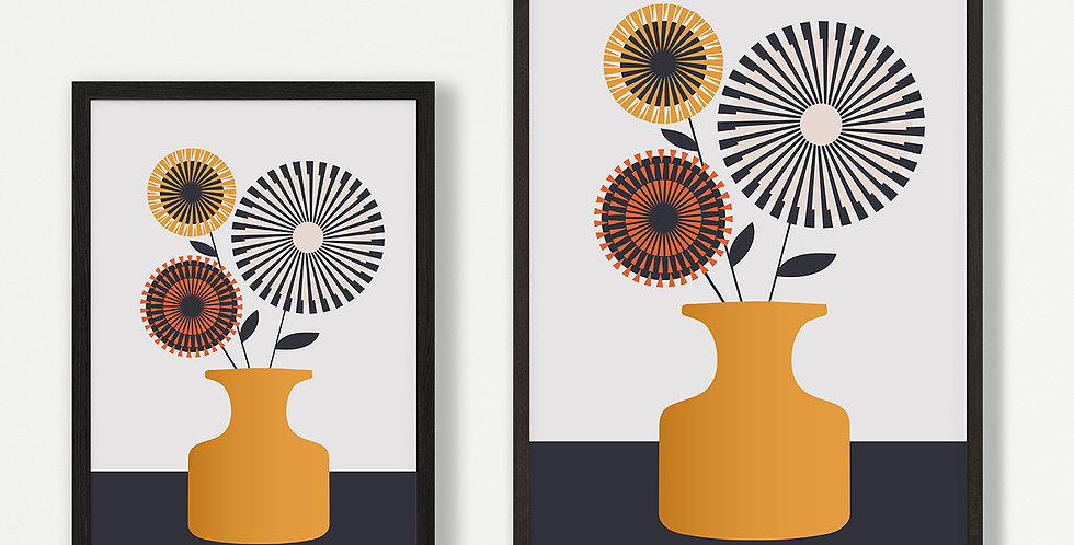 Yellow Vase Unframed Print