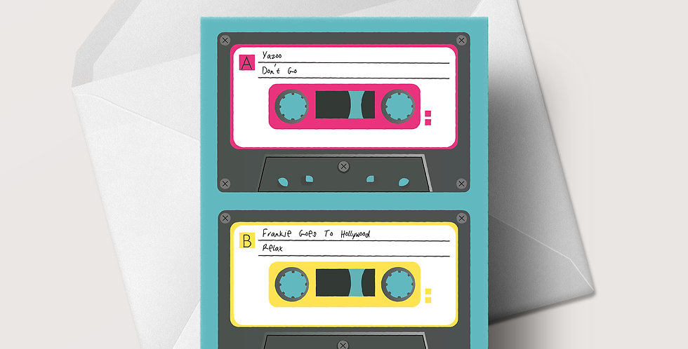 1980s Cassette A5 greeting card