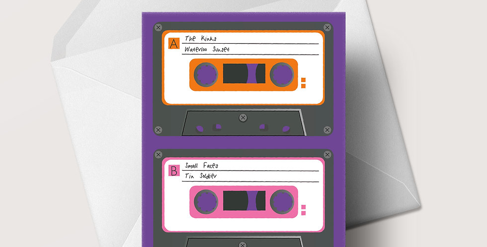 1960s Cassette A5 greeting card