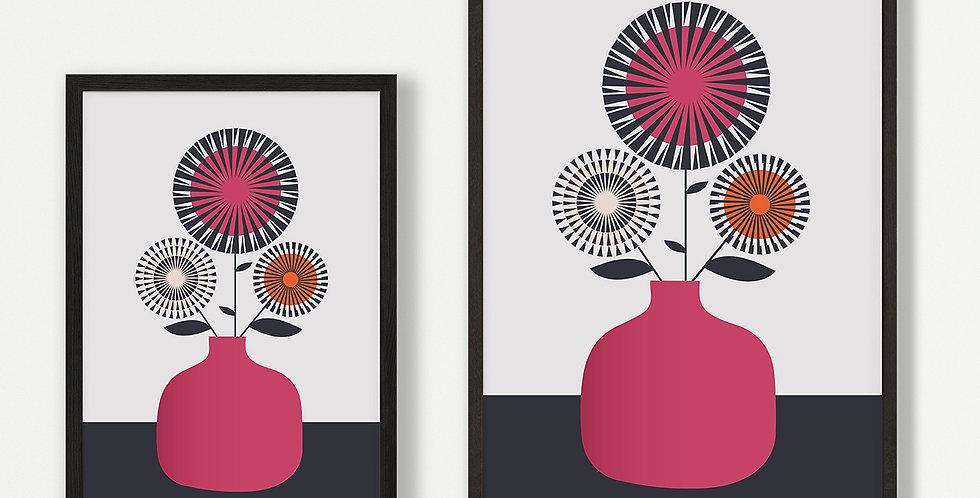 Cerise Vase Unframed Print