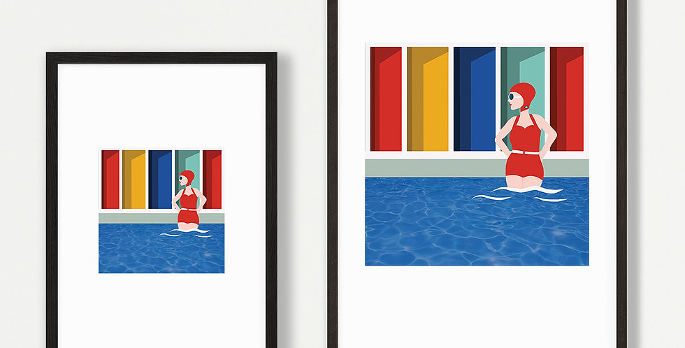 Lido Lady Print Unframed