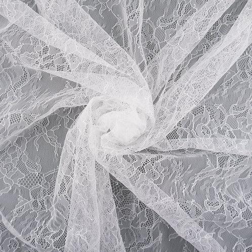 Tüll-Spitze sehr fein, Farbton Ivory