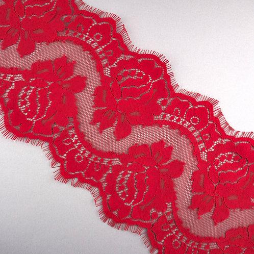 Spitzen-Borte (Coupon), Rot