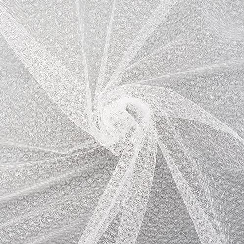 """Tüll mit Muster """"Sternchen"""", Farbton Ivory"""