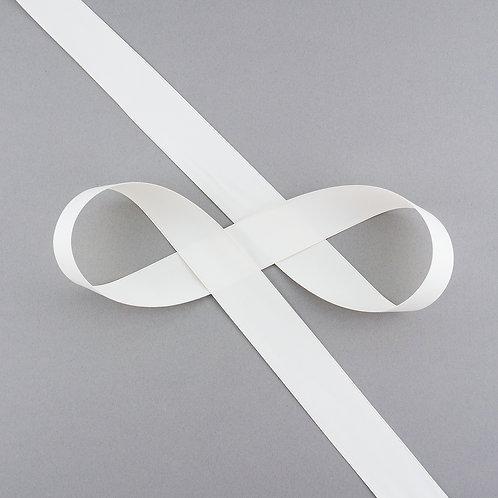 """Satinband matt glänzend in 25 mm Breite, Farbe """"Antique White"""""""
