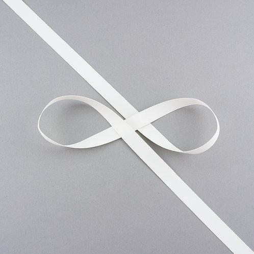 """Satinband matt glänzend in 13 mm Breite, Farbe """"Antique White"""""""