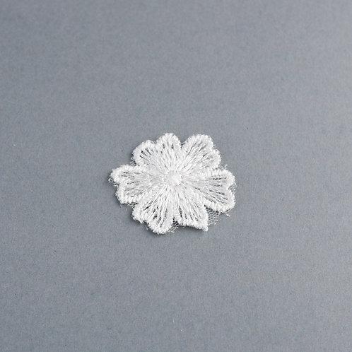 Blütenapplikation mittelgroß zum Aufnähen, Stoffblumen
