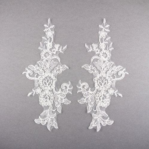 Spitzen-Elemente Paar Nr. 15 in Farbe Ivory