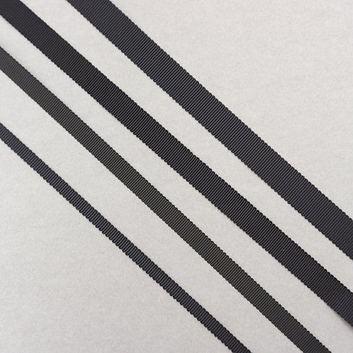 Ripsband in 16/13/10/7mm Breite, Farbe Schwarz