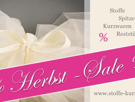Herbst-Sale für Stoffe und Kurzwaren