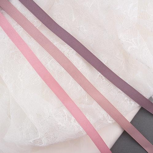 Ripsband mit glatter Kante in 16mm Breite, Vintage Rosa - Mauve