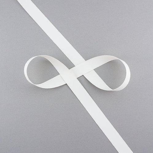 """Satinband matt glänzend in 19 mm Breite, Farbe """"Antique White"""""""