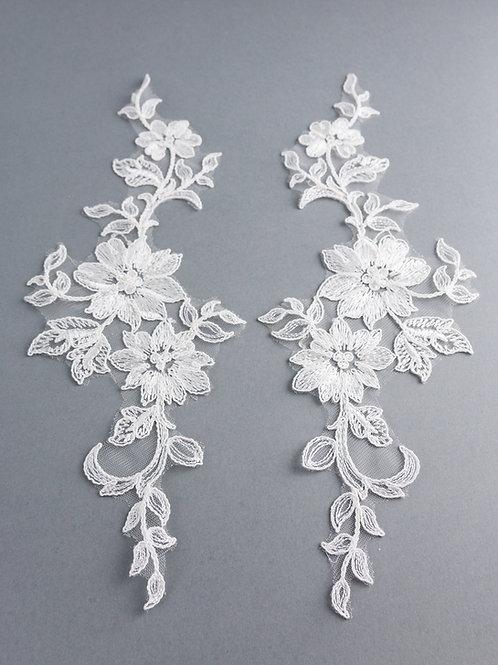 Spitzen-Elemente Paar Nr. 2/8 in Farbe Ivory
