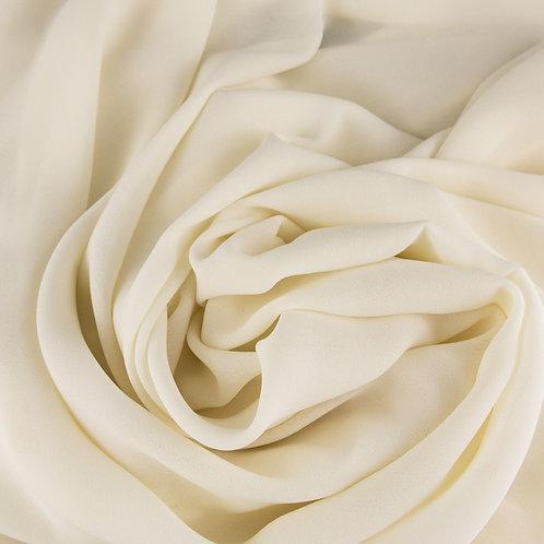 Chiffon, dicke Qualität, Farbton Ivory dunkel
