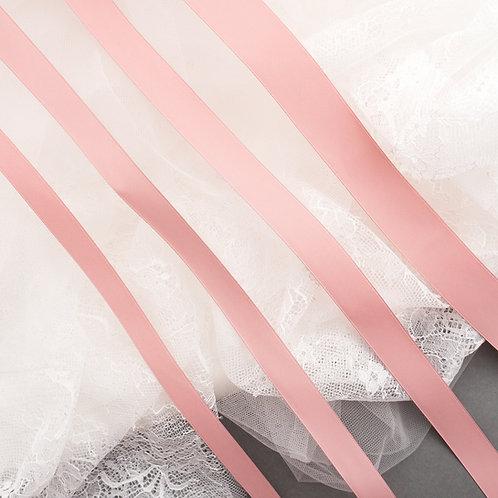 Satinband matt glänzend in 13/16/19/25mm Breite, Farbe Rosa-warm