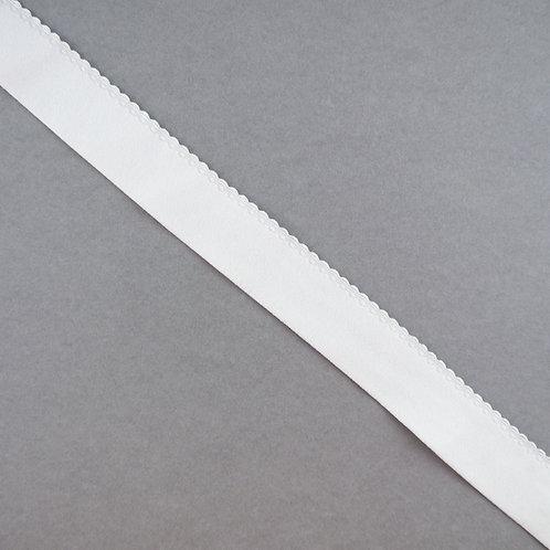 Elastik-Band mit Abschluss-Kante breit, Farbe Ivory