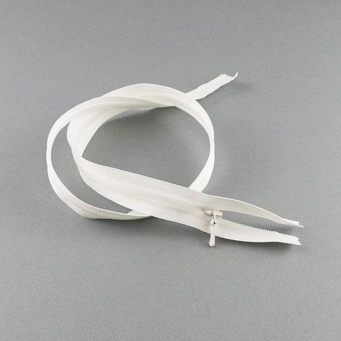 Reißverschluss nahtverdeckt 60 cm, Farbe Ivory