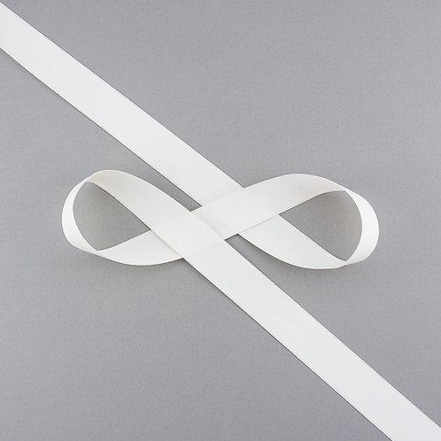 """Satinband matt glänzend in 22 mm Breite, Farbe """"Antique White"""""""
