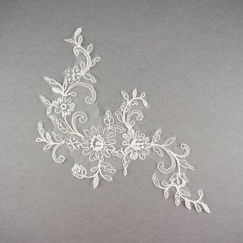 Spitzen-Element fein in Farbe Ivory klassisch, 29 x 16 cm