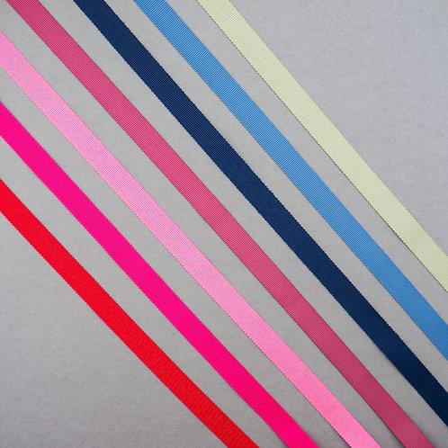 Ripsband dick in 16mm Breite, diverse bunte Farben