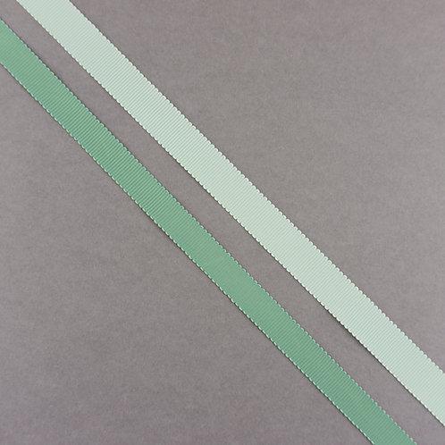 Ripsband in 16/13mm Breite, Farbe Hellgrün/Grün