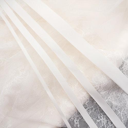 """Satinband matt glänzend in 6/13/16/25 mm Breite, Farbe """"Ivory hell"""""""