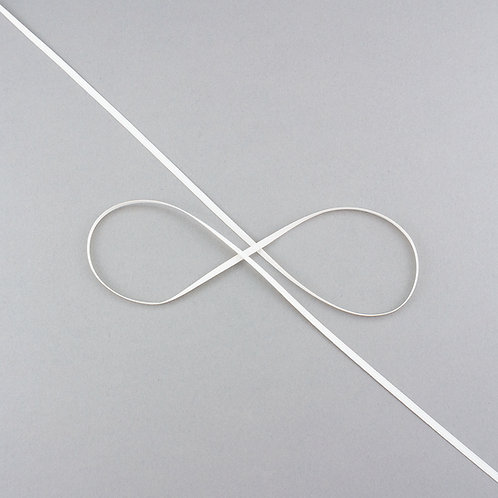 """Satinband matt glänzend in 3 mm Breite, Farbe """"Antique White"""""""