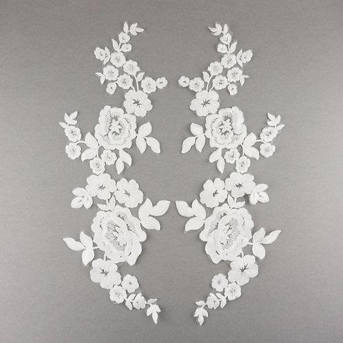 Spitzen-Elemente matt, Paar, Farbe Off-White