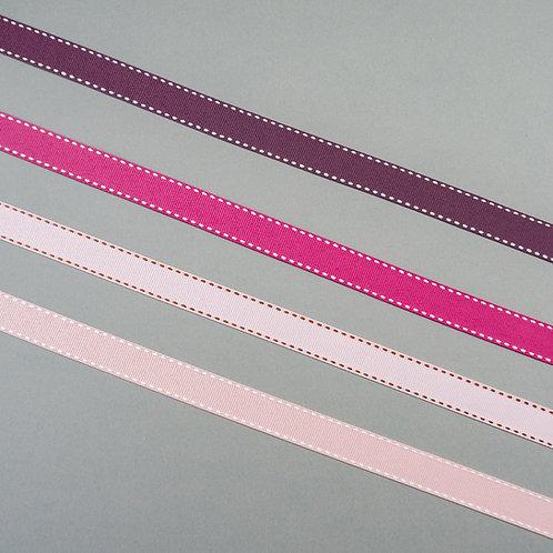 Ripsband gesteppt in 16mm Breite, diverse warmen Farben