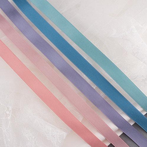 Mattes Satinband in 16mm Breite, verschiedene Farben