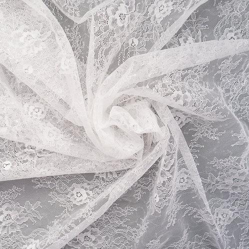 Tüll-Spitze mit Pailletten, Farbton Ivory