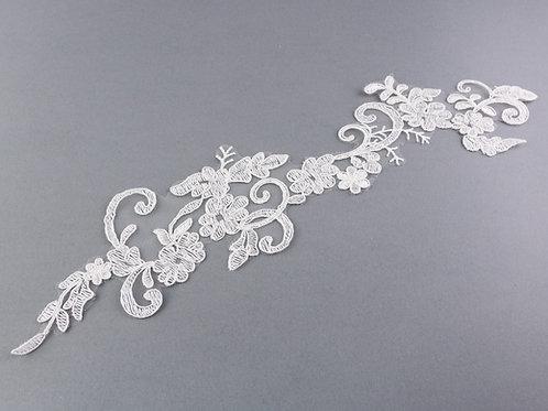 Spitzen-Element Nr. 9 in Farbe Ivory, 40 x 9 cm