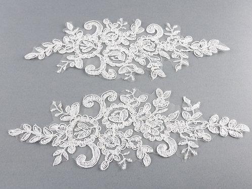 Spitzen-Elemente Paar Nr. 7 in Farbe Ivory