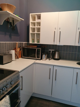 fully operational kitchenette with all amenities
