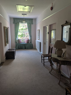 upstairs hallway to access apartment