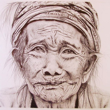 Pencil on paper drawing