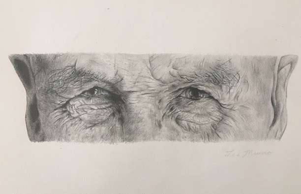 Pencil and charcoal on paper. Commissioned drawing for a family member of my grandfather.
